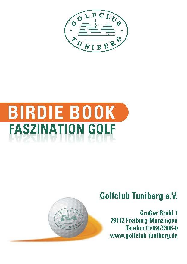 Golfclub Tuniberg Munzingen Birdie Book Seite 1